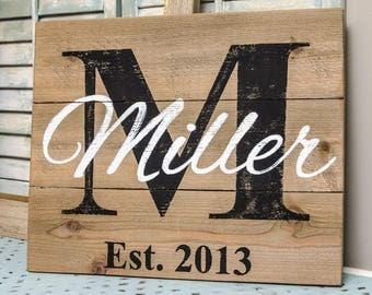 Wedding Signs Wood - Last Name Established Sign - Pallet Sign - Family Established Wood Signs - Family Established Sign - Last Name Sign