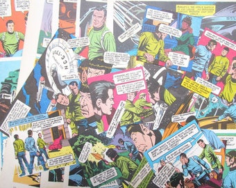 Star Trek vintage papers for craft: 40 piece ephemera pack. Original 1970s cartoon images ideal for scrapbooking, card making, collage EP615