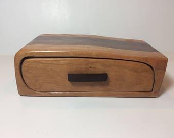 Handmade Cherry and Walnut Wood Bandsaw Jewelry Keepsake Box