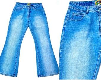 Vintage Paris Blues Denim Flare Jeans Size 11