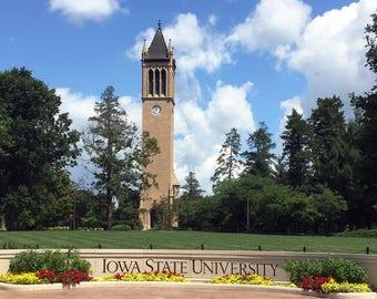 Iowa State University Campanile Print, Iowa State Art, ISU, Ames Iowa, Iowa Art, Iowa State University Photography