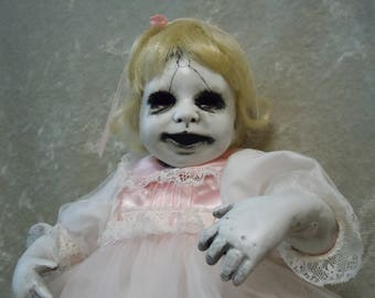 Scary Doll with No Eyes  #117  Day of the Dollies