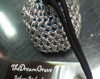 Small chainmail dice bag