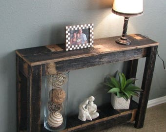 sale rustic console table for entry way