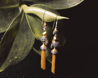 Keong Emas Gold Plated Double Chandeliers Earrings/ 925 Sterling Silver/ Fine Quality/ Exclusive Design