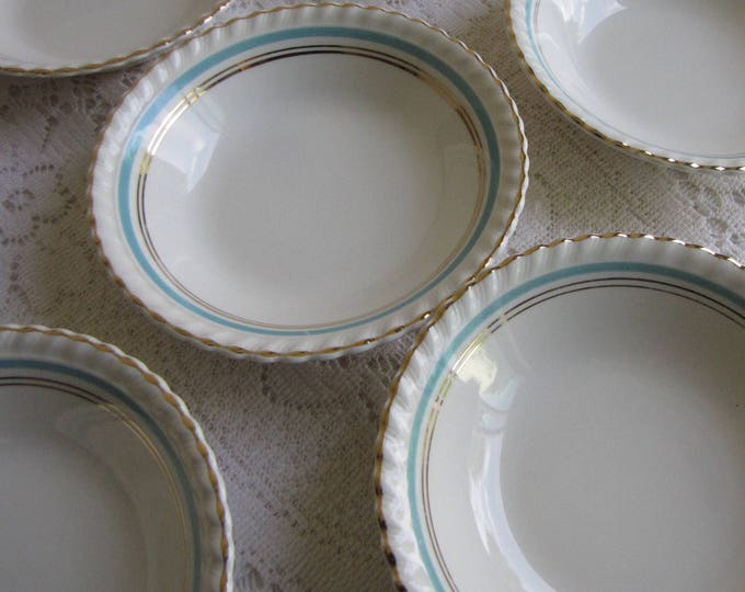 Johnson Bros. Dessert Bowls Old English Set of Seven (7) Small Bowls Circa 1945 Vintage Dinnerware and Replacements