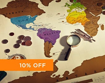 Scratch off world map version 2 gold silver scratch off world map poster gumiabroncs Image collections