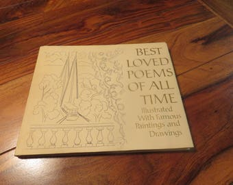 "Vintage Book Titled ""Best Loved Poems OF All Time"" Hallmark Crown Editions"