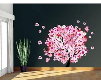 25% OFF 4th of July Sale Flower Tree wall decal, sticker, mural, vinyl wall art