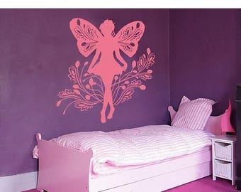 20% OFF Summer Sale Fairy girls wall decal, sticker, mural, vinyl wall art