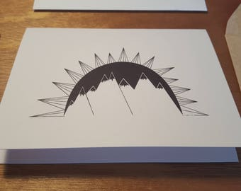Good Morning Mountains! Folded notecard 10 pack