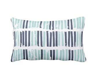 11 Sizes Available: Blue Throw Pillow Cover Navy Blue Pillow Blue Cushion Cover Striped Pillow Decorative Pillow Navy Blue Decor Navy Pillow