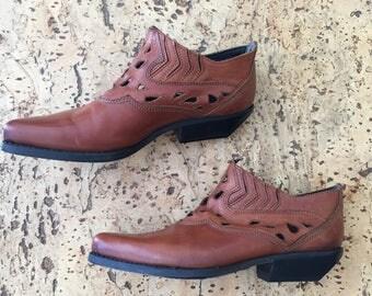Vintage 1980s cowboy boots