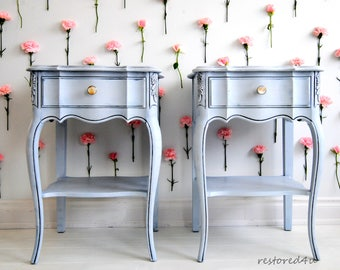 SOLD!!-Pair of French Country end tables!