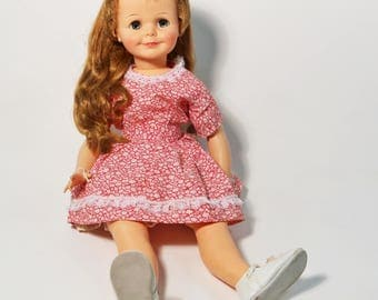 "Vintage Miss Ideal Terry Twist Play Pal 29"" Doll 1960s"