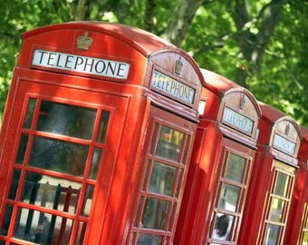 Laminated placemat England telephone booth
