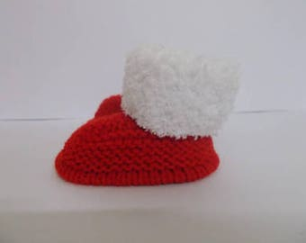 Hand Knitted Baby Booties, Baby Booties, Baby Slippers, Baby Shoes, Baby Shower Gift, Baby Crib Shoes, Baby Boots, New Baby Christmas Gift