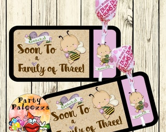 Printable Adoption Lollipop Tag/Gotcha