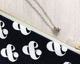 Ampersand Necklace & Bag | Collaboration