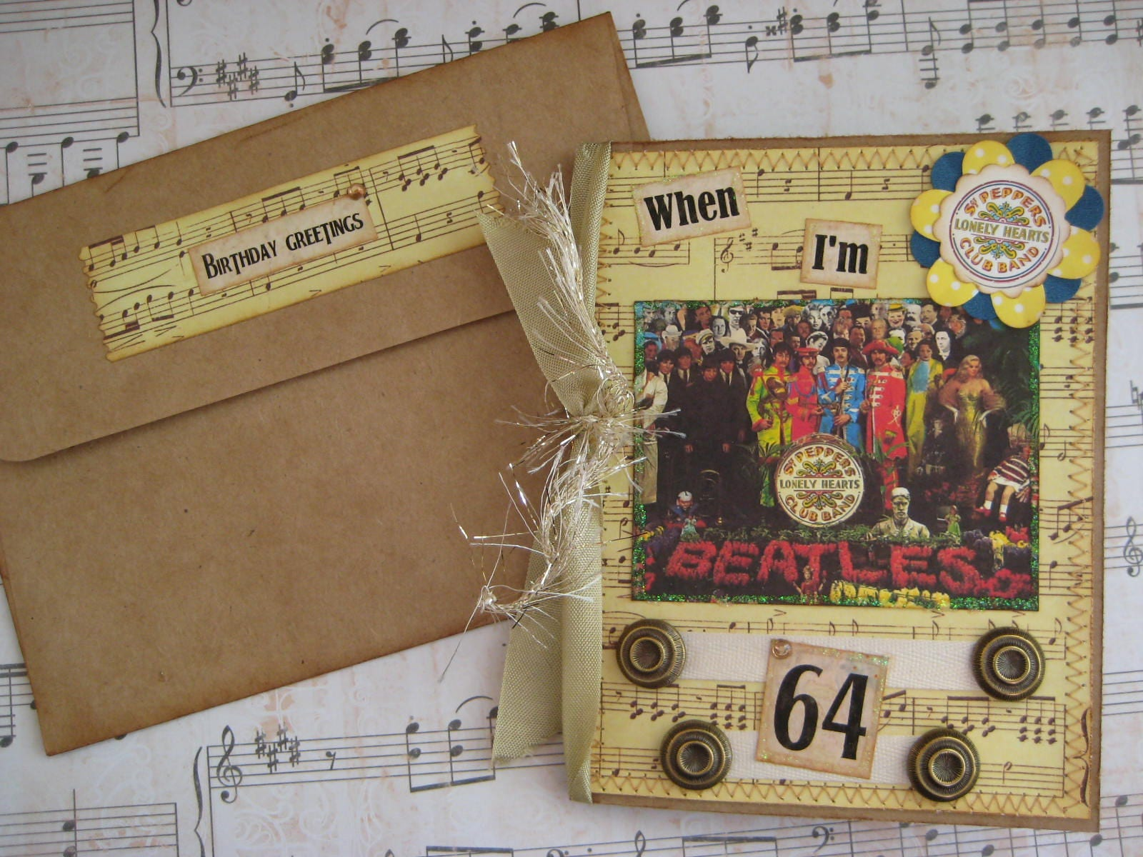 Beatles Birthday Card When I m 64 Sgt Pepper s