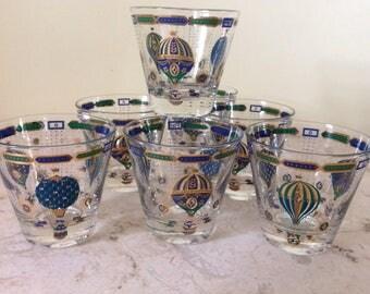 Vintage Georges Briard Fancy Free Glasses Set of 7