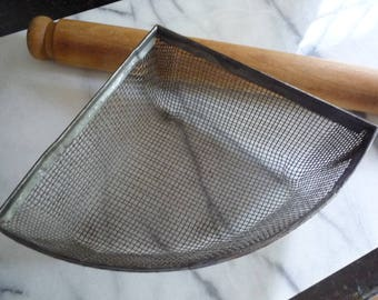 Antique French Farmhouse Fruit Strainer      Gorgeous Kitchen Decor Piece!