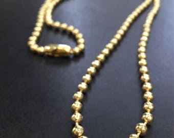 Military chain 6mm 32in 18k Goldfilled necklace  AP1123