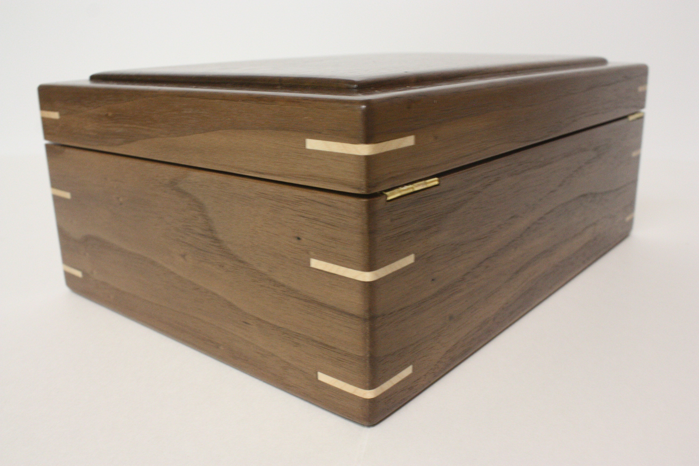 Black Walnut Box with Hinged Lid
