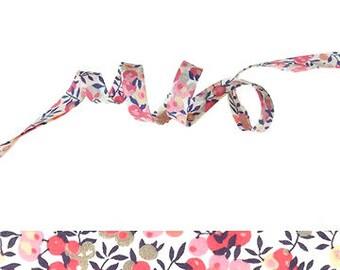 Wiltshire Pois de senteur Liberty fabric bias binding 1x Yard - 10mm wide, sewing supplies, gift wrap ribbon, hair bow supplies