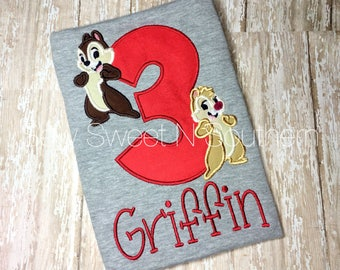 Chip and Dale birthday shirt, Disney Chipmunk shirt, Disney vacation shirt.