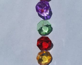 Set of 100 - 14mm Octagon Crystals (2 Hole) Your Choice of Colors