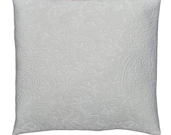 "Cushion + fabric damask ""Gray"" 42x42cm removable lining"