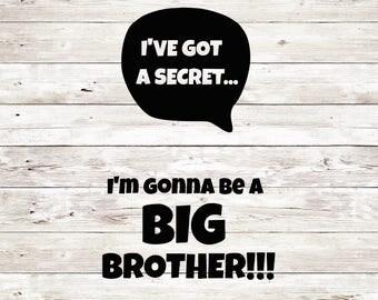 Big brother svg, Big Brother cut file, Age Brother svg, Silhouette Cameo Cut Files, Silhouette Cameo SVG, Circut Cut file, Svg Sale