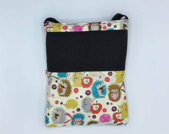Deluxe Carry Bag, Waterproof, Hedgehogs with scarves, for Hedgehogs, Sugar Gliders, Rats, and other Small Animals