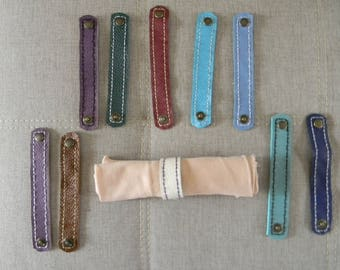Napkin rings 2.5 cm leather made and sewn entirely by hand