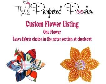 CUSTOM FLOWER LISTING, You Pick, collar flower, pet collar flower, wedding flower, flowers for dog collars