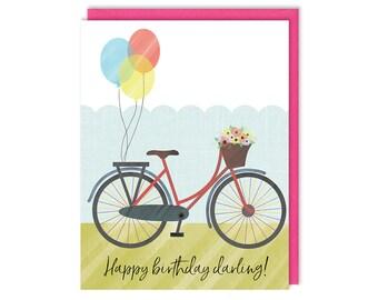 Birthday Card - Bicycle Birthday - Greeting Card