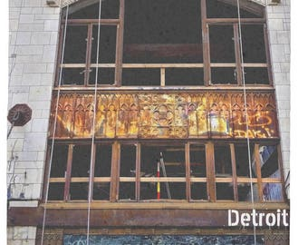 2017 The Metropolitan Building in Detroit under rehab Stone Coaster