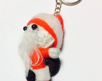Santa Voodoo String Doll Cartoon Keychain Key Ring Keyfob Ornament Thai Handmade