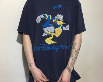 VTG Donald Duck T-Shirt - Large - Vintage Tee - Vintage Clothing - Mickey Mouse - Disney - Disneyland - 90s Clothing -