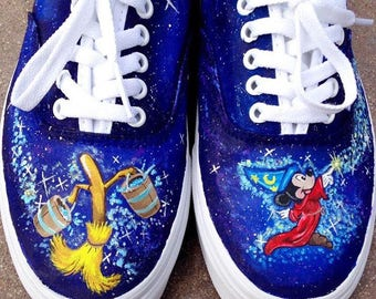 Custom Painted Vans with Laces