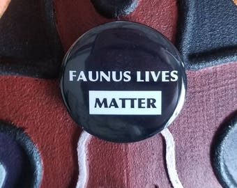 Faunus lives matter - mock RWBY button