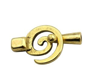 3 sets Antique Gold Leather Bracelet Hook Clasps MT568-3