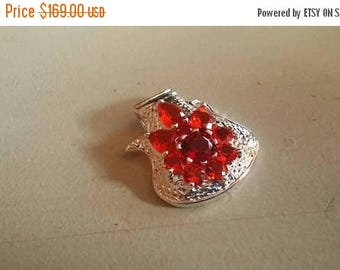 Holiday SALE 85 % OFF Garnet   Pendant Gemstones  . 925 Sterling Silver