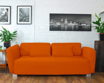 Slip cover to fit the ikea Mysinge 2 seat sofa ORANGE
