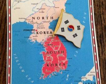 South Korea Flag Pin / Tie Tack / Lapel Pin / Country Flag Pin