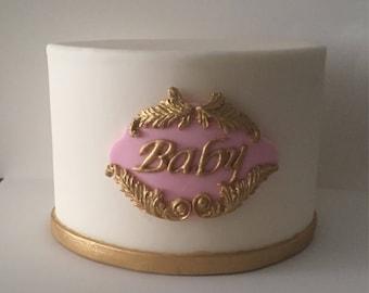 """6"""" Fake Cake with Fondant/Dummy Fondant Cake"""