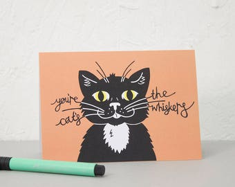 Cat Greetings Card, Birthday card, Notecard, Snail mail, Card for loved one, Card for Mum, Anniversary Card