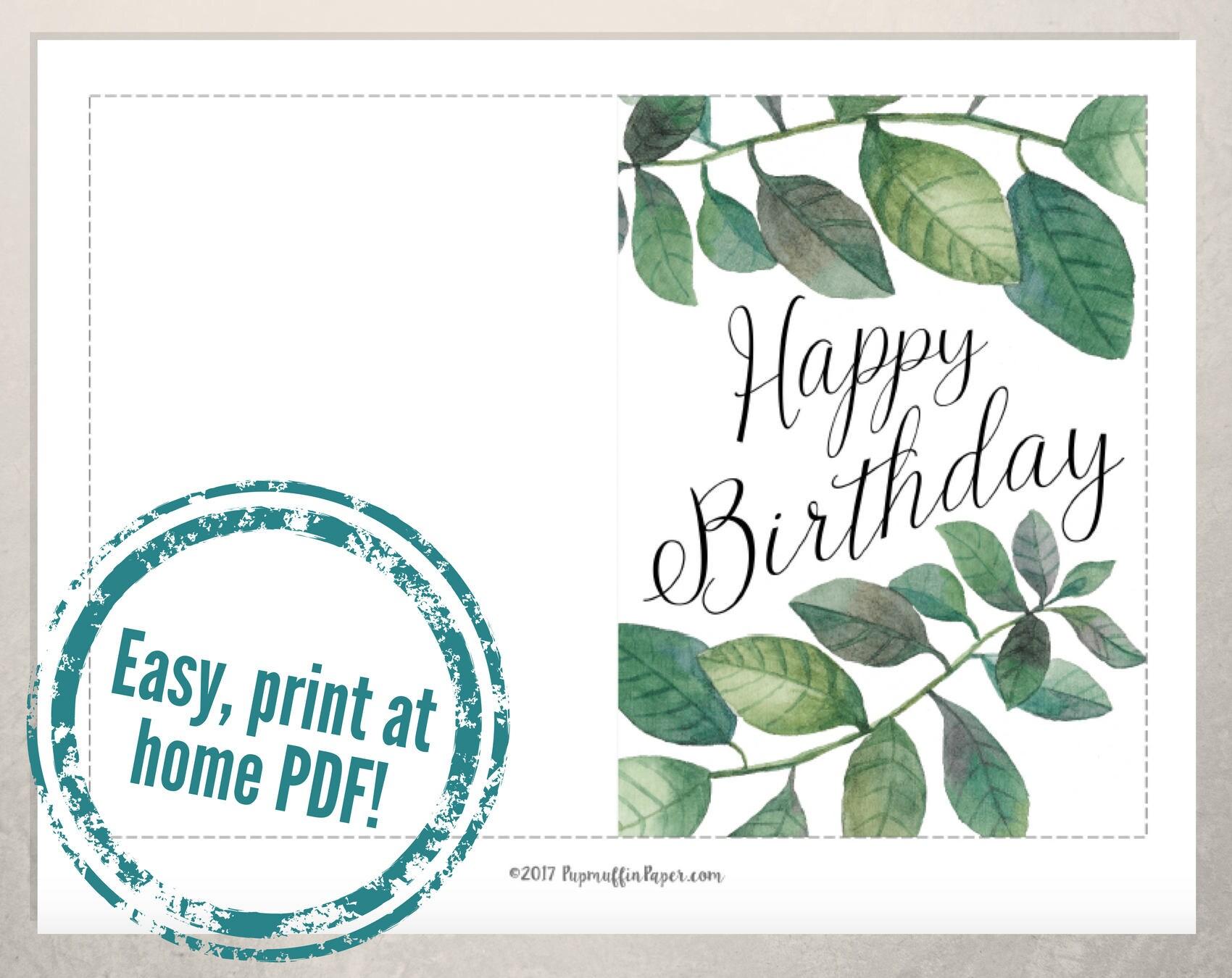 birthday card to print