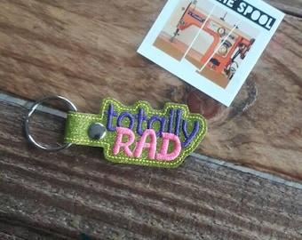 Totally Rad Keychain